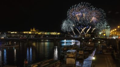 Pražský novoroční ohňostroj
