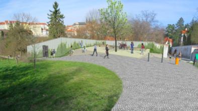 Vizualizace nových prostor na Petříně